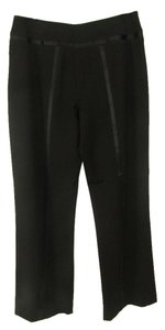 St. John Couture Solid Wide Leg Pants Black