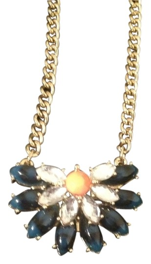 Bauble Bar Baulebar half daisy pendant | color blue | NWOT