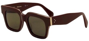 Céline New Celine sunglasses 41097 D65 burgundy/gold