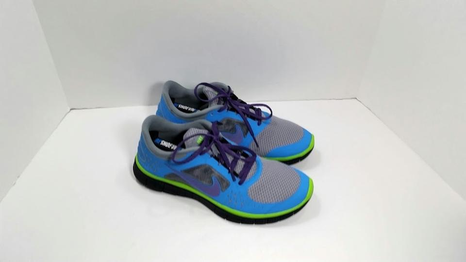 6a778806d573 Nike Blue Gray Lime Purple Free Run Id Sneakers Size US 10 Wide (C ...