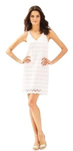 Lilly Pulitzer short dress Resort White Scalloped Lace Summer Strappy on Tradesy