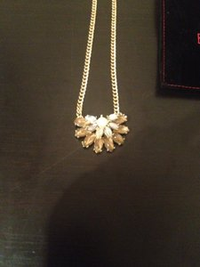 Bauble Bar Baublebar half daisy pendant | color topaz | NWOT