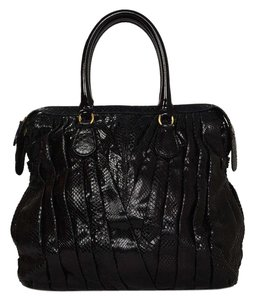 Valentino Python Shopper Tote in Black