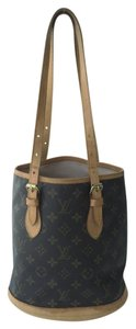 Louis Vuitton Canvas Bucket Pochette Tote in Monogram