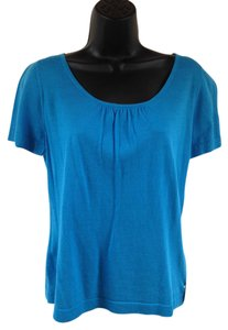 Lafayette 148 New York Scoop Neck Lightweight Spring Wear Sweater