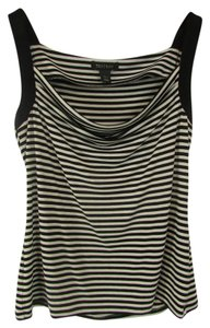 White House | Black Market Whbm Sleeveless Striped Top Black