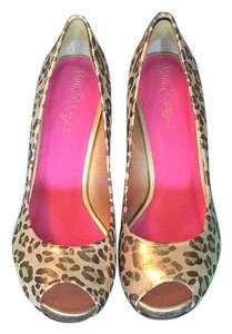 Lilly Pulitzer New With Tags Peep Toe Cheetah print Wedges