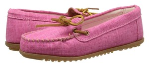 Minnetonka Canvaa Slip On Hot Pink Flats