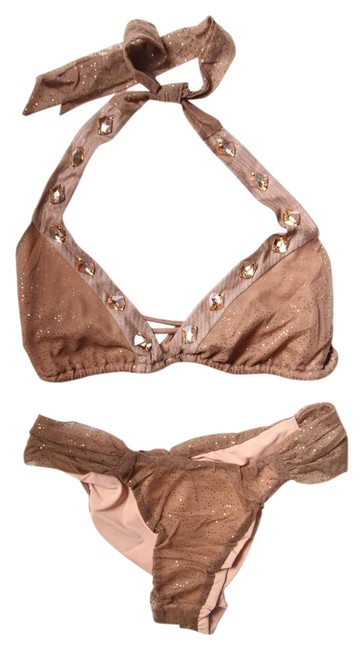 Item - Nude Can't Get Enough Swarovski Crystal Bikini Set Size 4 (S)