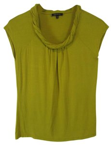 Anne Klein Sleeveless Top Mustard Yellow