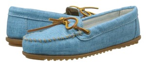 Minnetonka Slip On Canvas Turquoise Flats