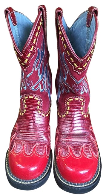 """Item - Red """"Fat Baby"""" Boots/Booties Size US 6 Regular (M, B)"""