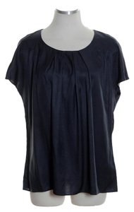 Boden Pleated Woven Top Blue