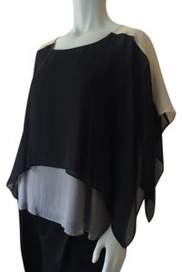 Eileen Fisher Top Black Cream Grey
