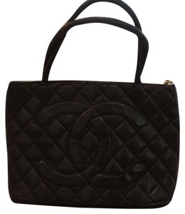Chanel Quilted Satchel Tote in Black