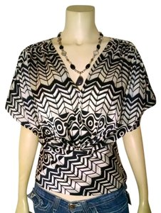 Cynthia Steffe Top black, white
