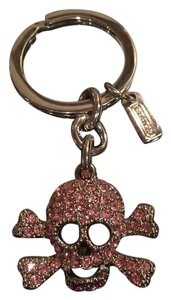 Coach RARE Coach Pave Skull keychain fob - PINK!