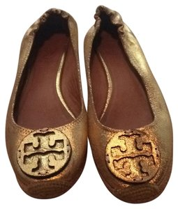 Tory Burch Gold Mules