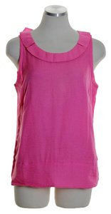 J.Crew Silk Cotton Sleeveless Top Pink