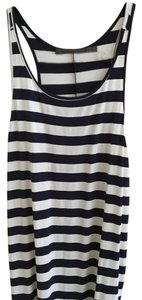 Feel the Piece Top Navy blue, white