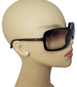 Chanel Chanel Brown and Green Shield Sunglasses 6036 c. 638/43