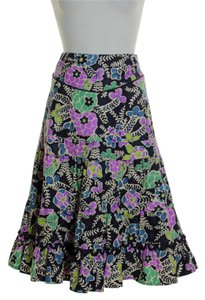 FEI Corduroy Floral Skirt Multi-color