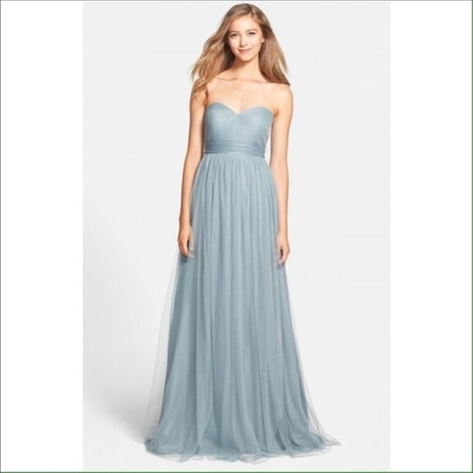 Jenny Yoo Mayan Blue Tulle Annabelle Bridesmaid/Mob Dress Size 2 (XS ...