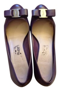 Salvatore Ferragamo Purple Platforms