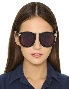 05b7145e327 Karen Walker KAREN WALKER SUPER LUNAR - ARROWED BY KAREN 52 MM SUNGLASSES   300 RETAIL