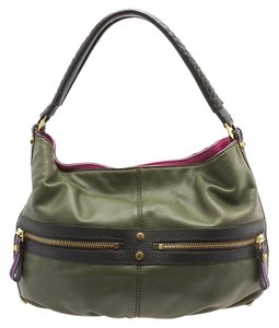 orYANY Leather Zippers Pockets Shoulder Bag