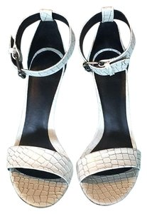Tibi White/Gold Multi Sandals