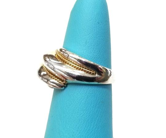 Tiffany Amp Co Twisted Shrimp 18k Gold Rope Sterling Silver
