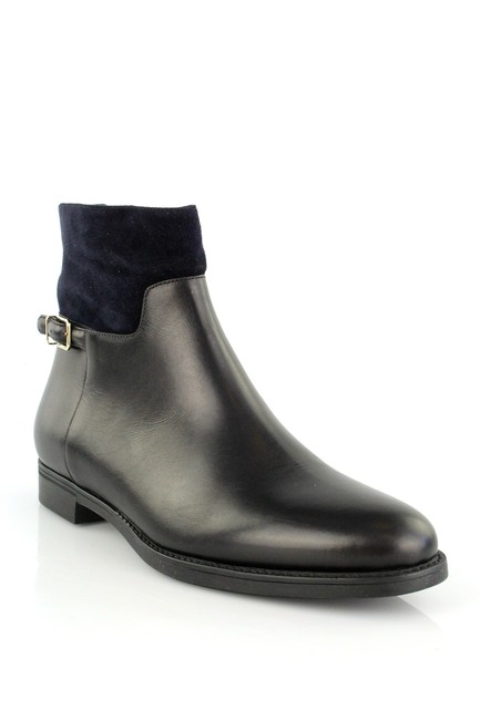Item - Black and Navy Leather Suede Badington Short Boots/Booties Size US 8 Regular (M, B)