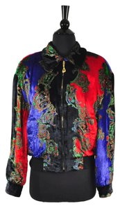 Escada Velvet Bomber Multi-Color Jacket