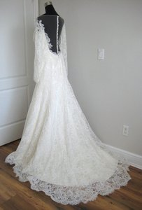 Augusta Jones Cream Lace Mia Feminine Wedding Dress Size 10 (M)