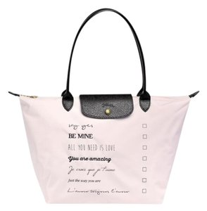 Longchamp Limited Edition Valentine Pin Tote in pink