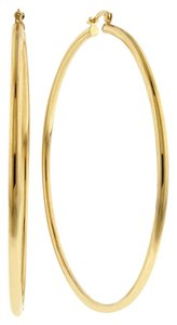 Grazie Italiana Collection 18K Gold-Plated Bronze Large Hoop Earrings