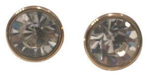 Kate Spade Crystal Round Bezel Stud Earrings