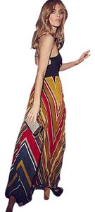 Free People Nwot 70s Striped Maxi Maxi Skirt Multicolor
