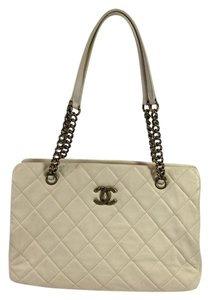 Chanel Calfskin Tote in French White