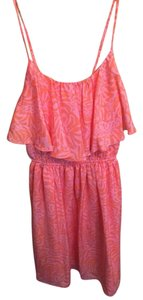 Lilly Pulitzer for Target short dress Pink and Orange Giraffe Print on Tradesy