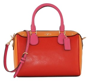 Coach Mini Bennett Satchel in Carmine