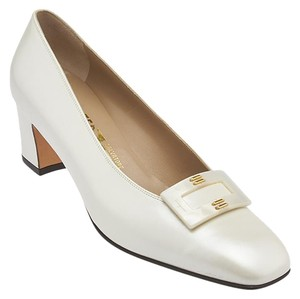 Salvatore Ferragamo Leather Cream Pumps