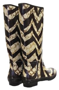 Coach Rain Brown Boots