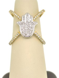 Other 14K Two Tone Gold 0.65Ct Diamond Hai Ring 6.4 Grams Size 6