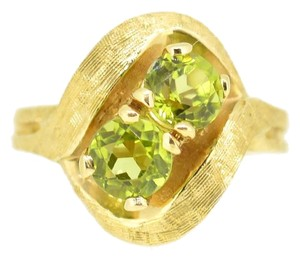 14K Yellow Gold Peridot Ring 5.9 Grams Size 6