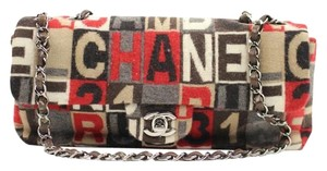 Chanel Tweed Classic Flap Flap Limited Edition East West Shoulder Bag