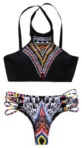 Beach Bunny Tribal Printed Black Bikini Set