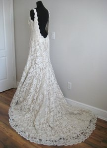 Augusta Jones Cafe/Ivory Lace Stephanie Feminine Wedding Dress Size 10 (M)