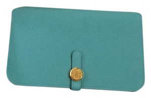Hermès Hermes Dogon Duo Wallet in Blue Atoll